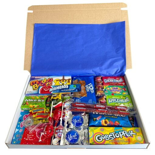 American Candy Box with American favorites - 32 pieces - Medium.