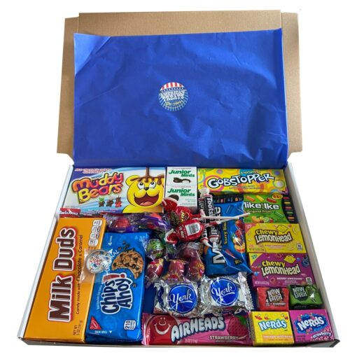 American Candy Box with American favorites - 35 pieces - Medium.