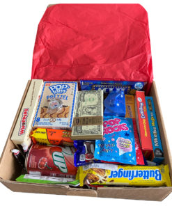 American Gift Box Large - 29 items - inside of box.