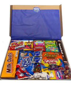 American Candy Box with American favorites - 27 pieces - Medium.
