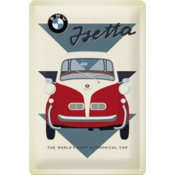 Nostalgic Art Tin Sign BMW Isetta Car 20x30