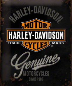 Nostalgic Art Tin Sign Harley Davidson Genuine 30x40
