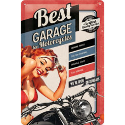 Nostalgic Art Tin Sign Best Garage Red 20x30