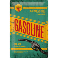 Nostalgic Art Tin Sign Gasoline The Bikers Choice 20x30