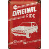 Nostalgic Art Tin Sign Volkswagen Golf - The Orignal Ride 20x30