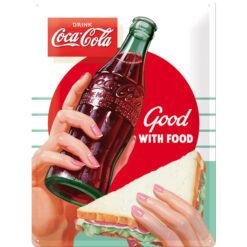 Nostalgic Art Tin Sign Coca-Cola Food 30x40