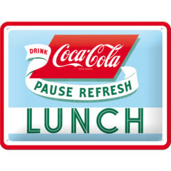 Nostalgic Art Tin Sign Coca-Cola Lunch 20x15