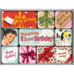 Nostalgic Art Magnet set It's your Birthday! (9x)