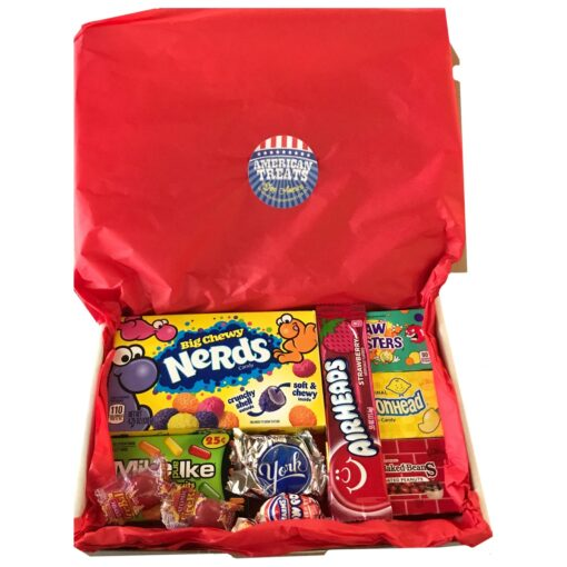 American Candy Box with American favorites - 11 pieces - Small.