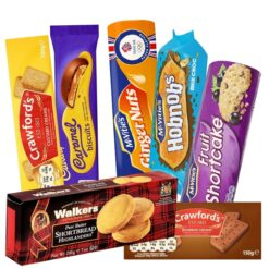 British Biscuit Bundle with seven different iconic British biscuits.
