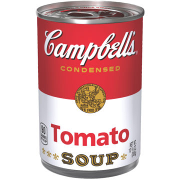 The original can Campbell's Tomato Soup from the USA 305 grams.
