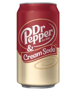 Dr Pepper and Cream Soda can 355ml USA.