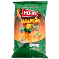 Herrs Jalapeno Poppers Cheese Curls 198 grams.