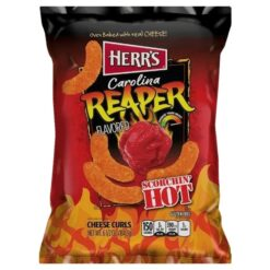 Herrs Carolina Reaper Cheese Curls 198 grams.