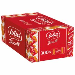 Lotus Biscoff Original Speculoos 300x Caramalized cookies individually wrapped.