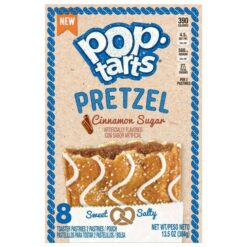 Kelloggs Pop Tarts Pretzel Cinnamon Sugar Sweet and Salty.