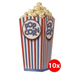 Popcorn cups – regular size set of 10