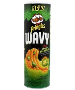 Pringles wavy jalapeno can from the USA.