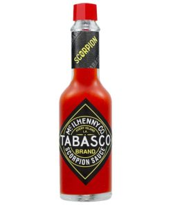 Bottle of Tabasco Scorpion hot sauce 60ml.